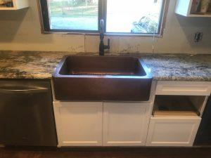 granite countertop single basin