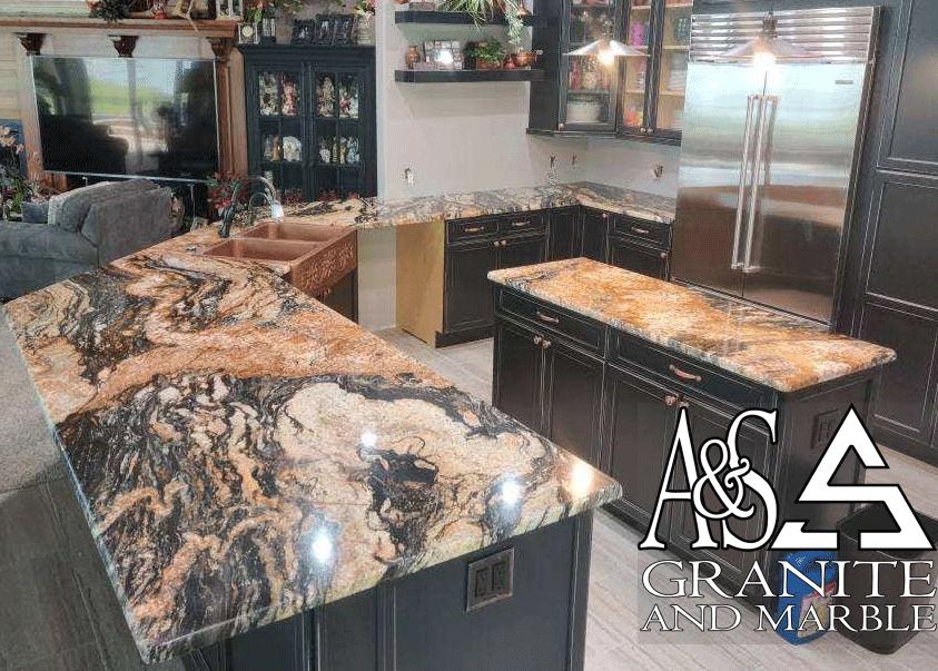 Magma Gold Kitchen Countertops