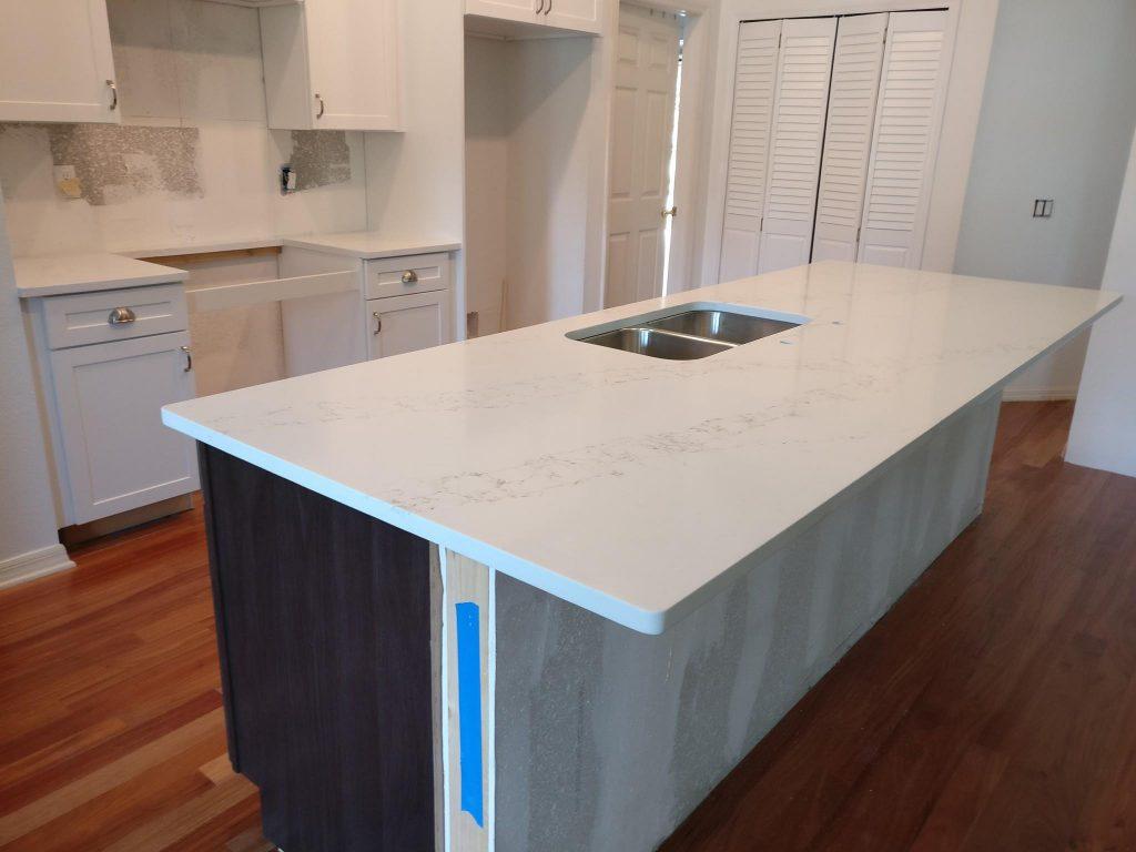 georgeous white quartz countertop project