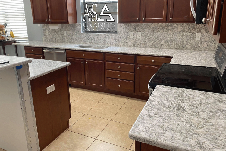 Cambria Berwyn countertops With Full Height Back Splash